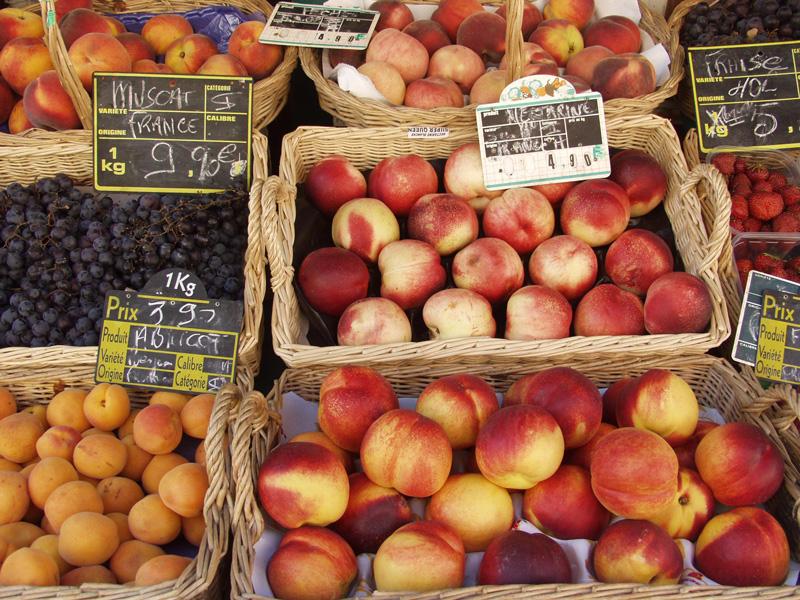 Fresh fruit in the market.