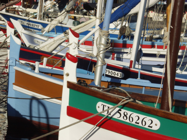 Small fishing boats on the Cote d'Azur.