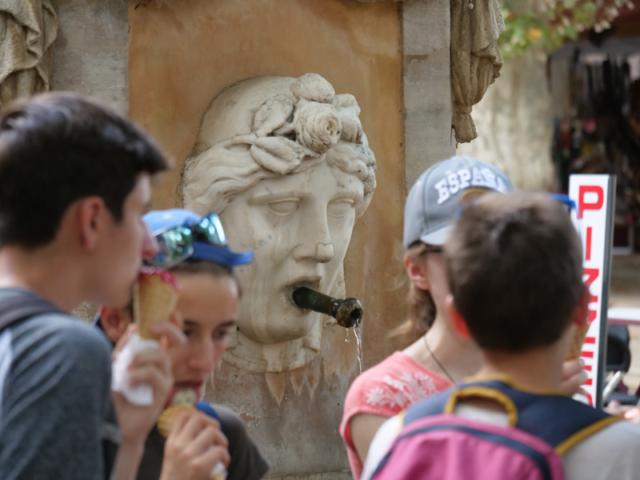 A fountain in Cotignac.